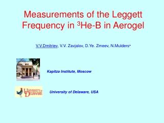 Measurements of the Leggett Frequency in 3 He-B  in Aerogel