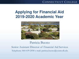 Applying for Financial Aid 2019-2020 Academic Year