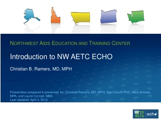 Introduction to NW AETC ECHO