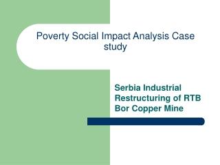 Poverty Social Impact Analysis Case study