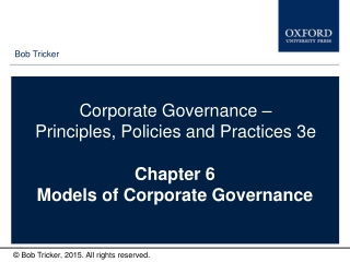 Chapter 6 Models of Corporate Governance
