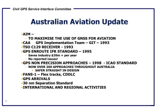 Australian Aviation Update