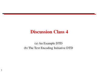 Discussion Class 4