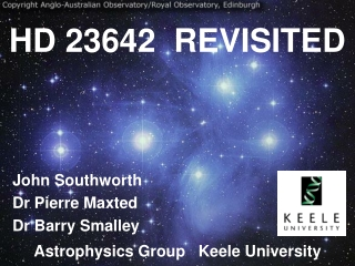 HD 23642  REVISITED