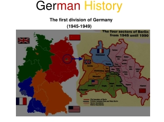 Ger man  His tory The first division of Germany (1945-1949)
