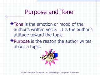 Purpose and Tone