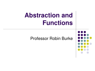 Abstraction and Functions