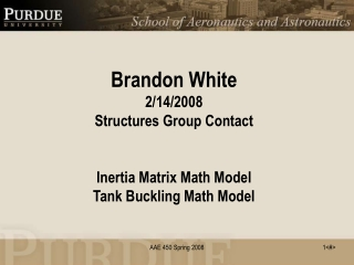 Inertia Matrix Math Model