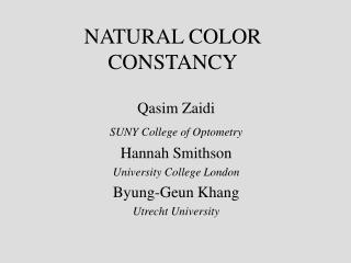NATURAL COLOR CONSTANCY