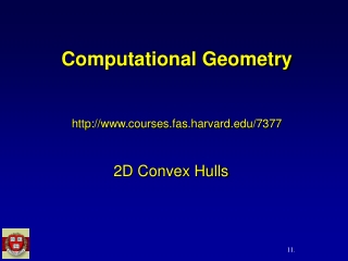 Computational Geometry courses.fas.harvard/7377