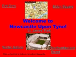 Welcome to  Newcastle Upon Tyne!
