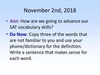 November 2nd, 2018