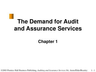 The Demand for Audit and Assurance Services