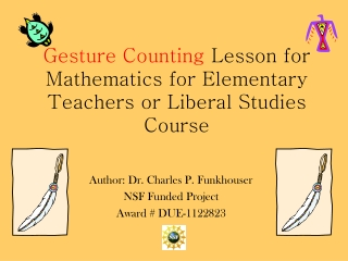 Gesture Counting  Lesson for Mathematics for Elementary Teachers or Liberal Studies Course