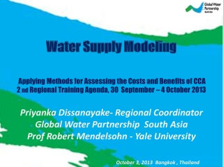 Water Supply Modeling