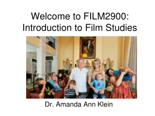 Welcome to FILM2900:  Introduction to Film Studies