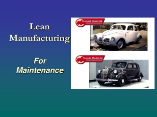 Lean Manufacturing For Maintenance