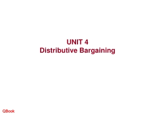 UNIT 4 Distributive Bargaining