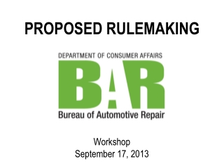 PROPOSED RULEMAKING
