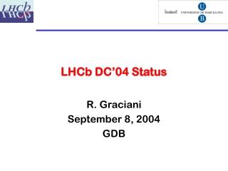LHCb DC'04 Status