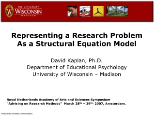 Representing a Research Problem As a Structural Equation Model