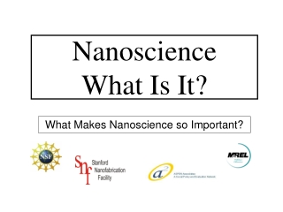 Nanoscience What Is It?