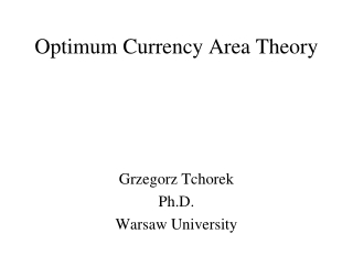 Optimum Currency Area Theory