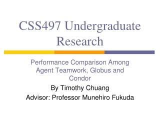 CSS497 Undergraduate Research
