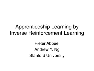 Apprenticeship Learning by Inverse Reinforcement Learning