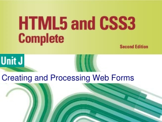 Creating and Processing Web Forms