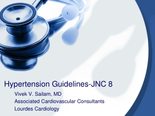 Hypertension Guidelines-JNC 8