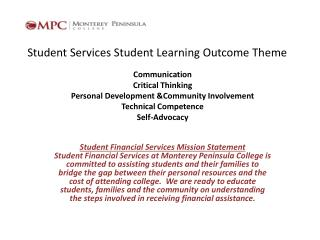 Student Services Student Learning Outcome Theme
