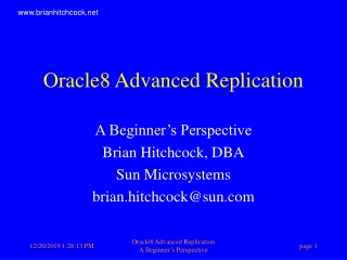Oracle8 Advanced Replication