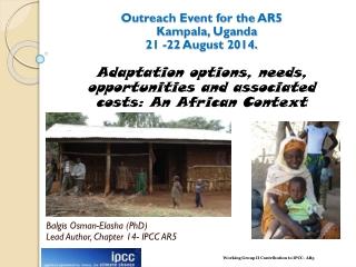 Outreach Event for the  AR5    Kampala, Uganda 21 -22 August  2014.