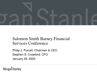 Salomon Smith Barney Financial Services Conference