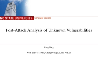 Post-Attack Analysis of Unknown Vulnerabilities