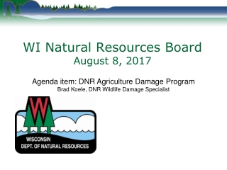 WI Natural Resources Board August 8, 2017