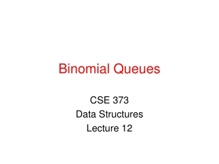 Binomial Queues