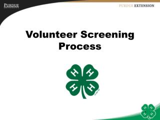 Volunteer Screening Process