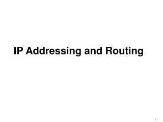 IP Addressing and Routing
