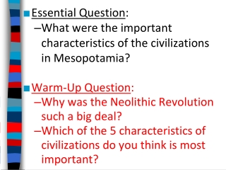 Essential Question :