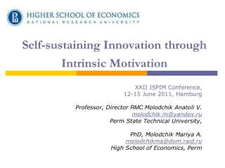 Self-sustaining Innovation through Intrinsic Motivation