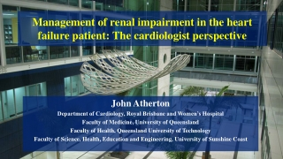 Management of renal impairment in the heart failure patient: The cardiologist perspective