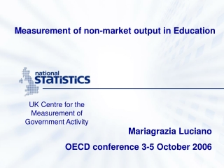 Measurement of non-market output in Education