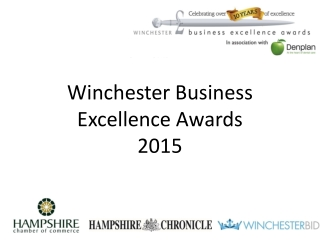 Winchester Business  Excellence Awards  2015