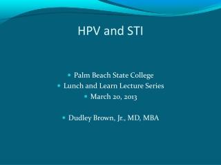 HPV and STI