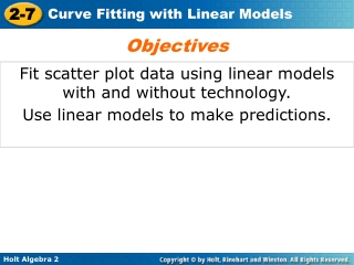 Fit scatter plot data using linear models with and without technology.