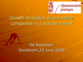 Growth strategies of real estate companies in a mature market