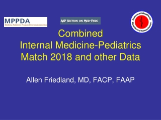 Combined  Internal Medicine-Pediatrics Match 2018 and other Data