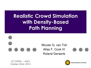 Realistic Crowd Simulation with Density-Based  Path Planning